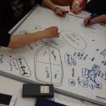 KC内ITC Areaでプレゼン資料等課題 作成に取り組む学生