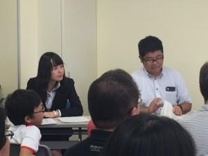 スピーチ発表会の司会助手